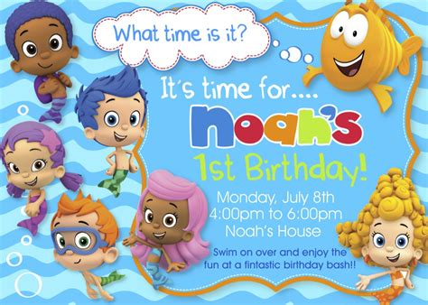 bubble guppies birthday party invitations dolanpedia