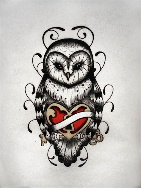 vintage owl tattoo designs school owl designs half sleeve cover up