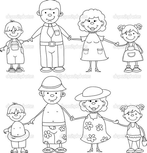 printable coloring page of family family members coloring pages maryell pinterest