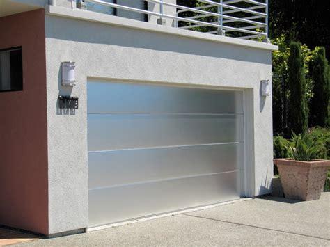 custom brushed aluminum garage door  marin county