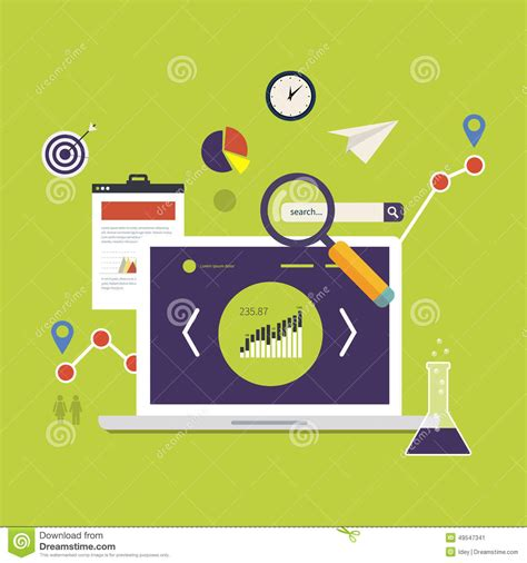 market research icons stock vector image 49547341