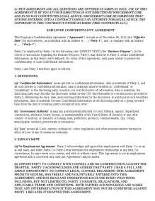 confidentiality and non compete agreement template employee confidentiality agreement for confidentiality