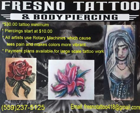 tattoo shops in fresno fresno and piercing fresno and