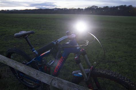 mountain bike night riding lights review ugoe 6000 lumen mountain bike lights bikes n stuff