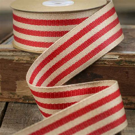 upholstery ribbon red and tan burlap fabric ribbon ribbon and trims