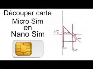 d 233 couper carte micro sim en nano sim tutoriel iphone 5