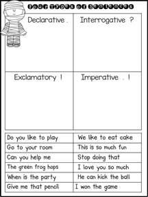 sentence types worksheets plustheapp