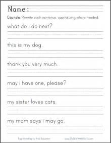 kindergarten writing sentences worksheet quotes