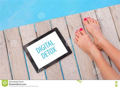Digital Detox Illustrations by Digital Detox Banner On Tablet Stock Photo Image 81903034