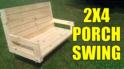 Backyard Wooden Swing Sets 2x4 Porch Or Tree Swing 096 Youtube