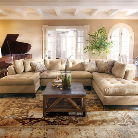 garner sectional living rooms chenille fabric and colors for living room