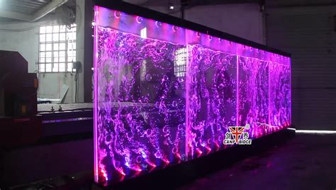 led light bubble wall modern indoor water features decoration led water bubble