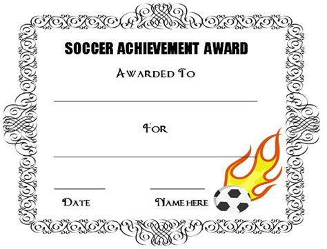 templates for award certificates free 30 soccer award certificate templates free to download