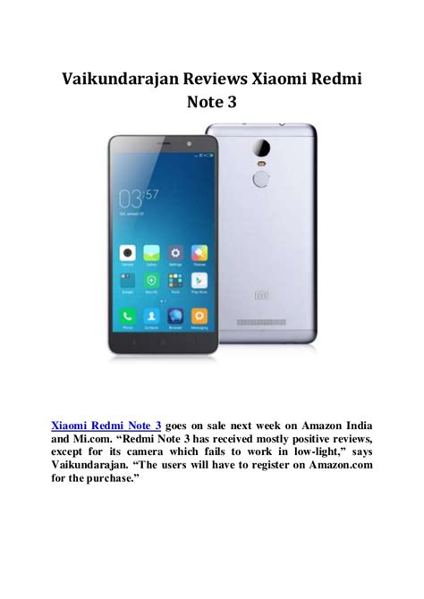 Handphone Xiaomi Redmi Note 3 vaikundarajan reviews xiaomi redmi note 3