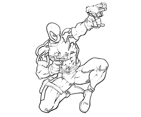 deadpool superhero coloring pages deadpool 16 superheroes printable coloring pages