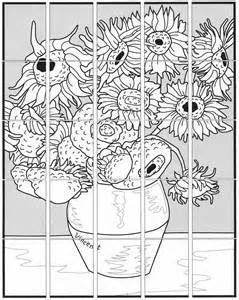 gogh coloring book free coloring pages of sunflowers vangogh