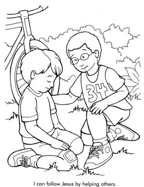 Coloring Pages Of Kids Helping Others Recursos Helping Coloring Pages