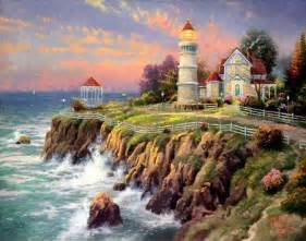 Decorating Ideas For Victorian Homes Gallery For Gt Thomas Kinkade Lighthouse