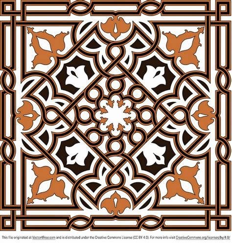 arabesque pattern ai ornament vector arabesque vector4free pinterest