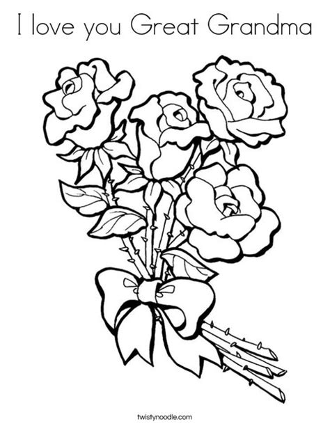 I Love You Great Grandma Coloring Pages | i love you great grandma coloring page twisty noodle
