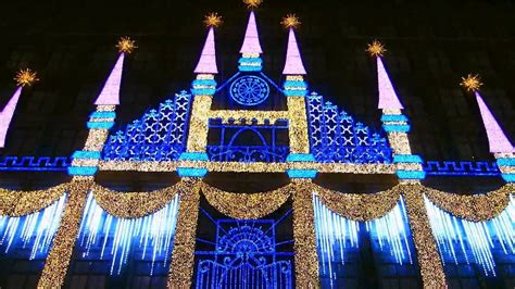 saks fifth avenue christmas light show youtube