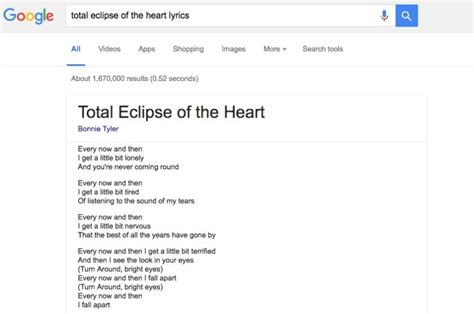 Lyrics Lookup Finally Shows Song Lyrics Right In The Search Results Android Authority