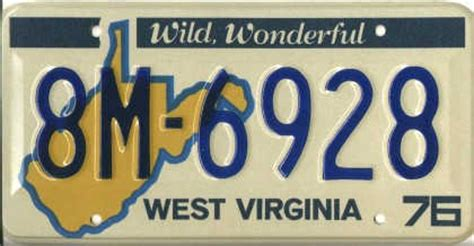 Wv Vanity Plates by West Virginia License Plate Collection The Andrew