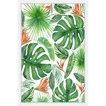 Tropical Leaves Wall Art   Temple & Webster