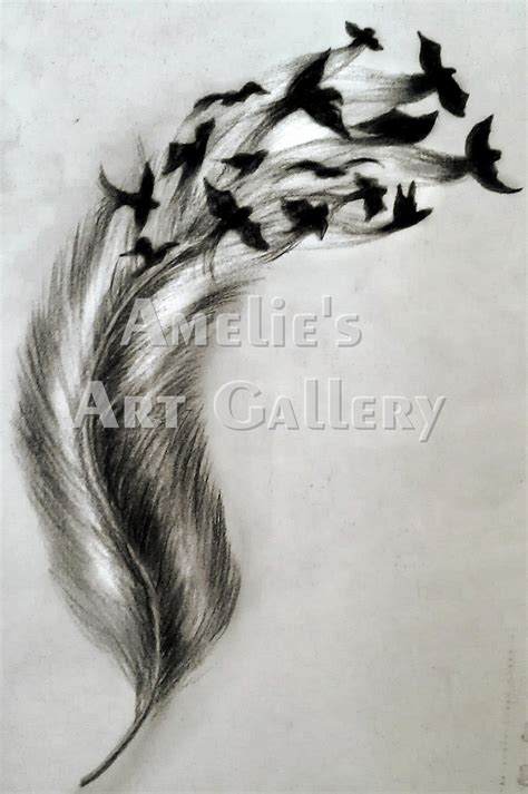feather into birds tattoo feather birds by ameliesartgallery on deviantart