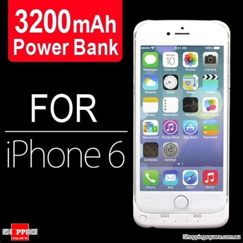 Battery Power Iphone 6 White 3200mah battery power bank charger for iphone 6s 6