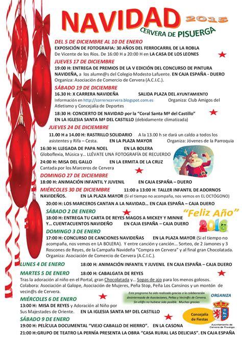 programa de navidad programa de navidad cervera de pisuerga