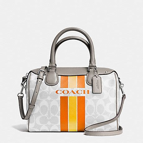 Coach Mini Signature Chalk 1 coach f38401 coach varsity stripe mini satchel in signature silver chalk orange