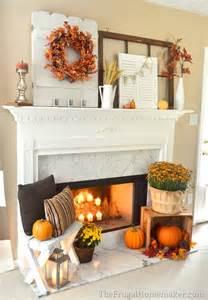 31 days of fall inspiration fall mantel