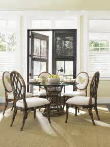 tropical dining room sets bahama home bali hai tropical 7 single pedestal dining set tropical dining room