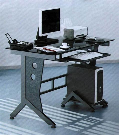 Steel Computer Desk China Glass Metal Computer Desk Hd 004 China Computer Desk Glass Computer Desk