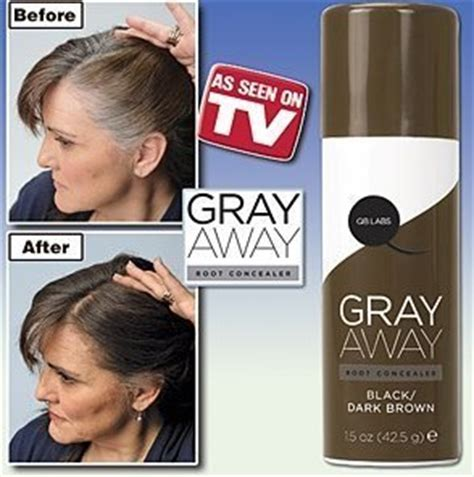 gray away root concealer gray away hair dye as seen on gray away root concealer black to deep medium brown as