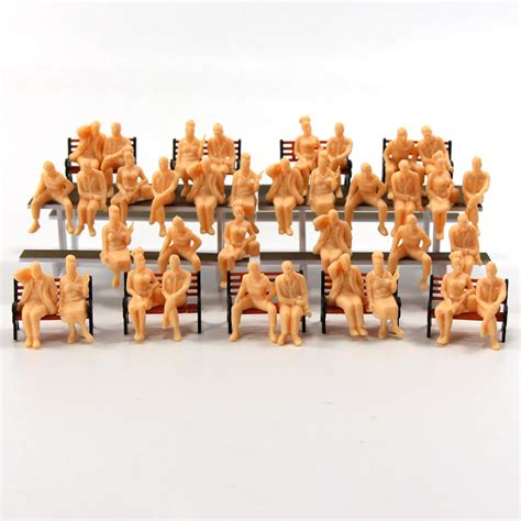 p4803b 48pcs all seated figures o scale 1 48 unpainted