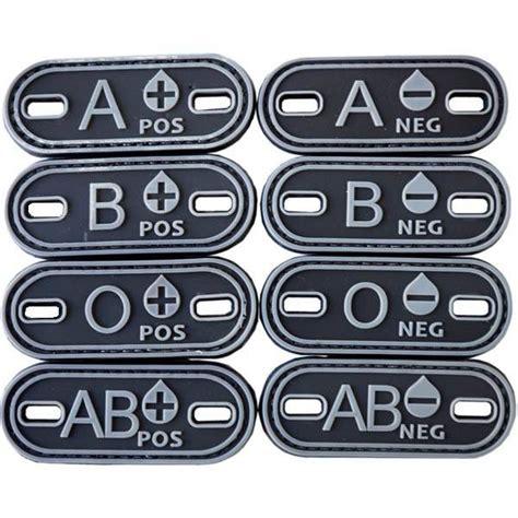 Rubber Pvc Patch Blood Type Ab Pos 1 rubber pvc cloth patch blood tactical patch a a positive ebay