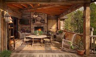 Cabin Porch Rustic Porches Log Cabin With Wrap Around Porch Rustic