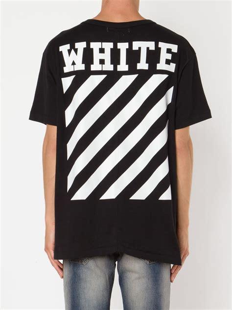 Black And White Shirt White C O Virgil Abloh White Print Cotton T Shirt In