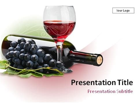 Download Red Wine Theme Powerpoint Template Wine Powerpoint Template