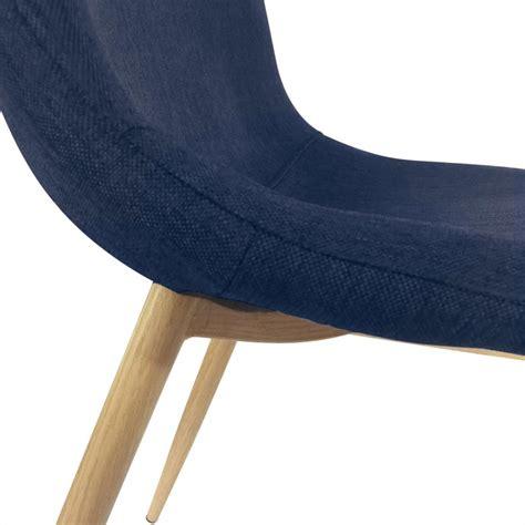 Chaises Scandinaves Bleu chaises scandinaves karl tissu bleu pas cher scandinave deco