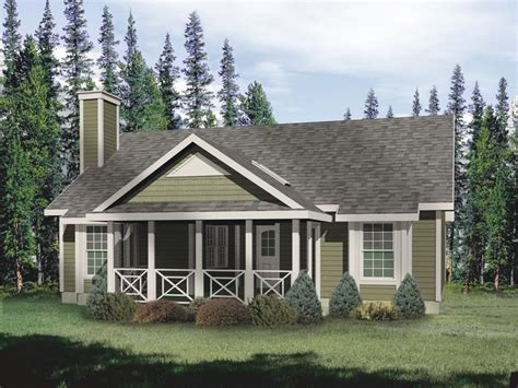 Ranch House Plans With Screened Porch Hickory Lane Country Cabin Home Plan 058d 0011 House