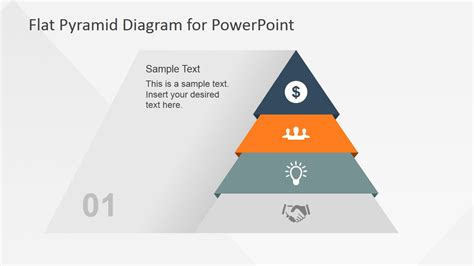 4 Levels Flat Pyramid Diagram Template For Powerpoint Slidemodel Pyramid Powerpoint Template