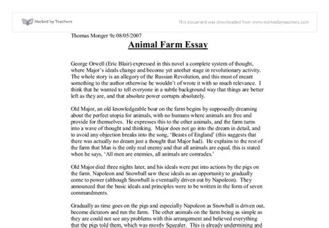 theme essay on animal farm 3 ways not to start a satire in animal farm essay