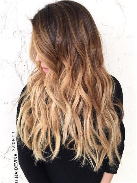 brunette to blonde ombre images the 50 sizzling ombre hair color solutions for blond