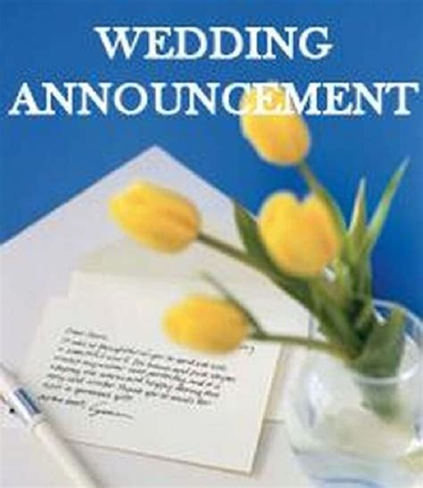 Wedding Announcement Letter by 6 Tips To Write A Wedding Announcement Letter Free Letters