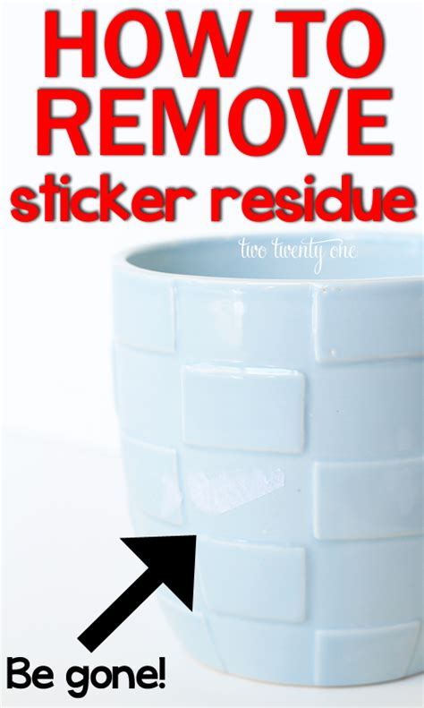 How To Get Sticker Residue Plastic