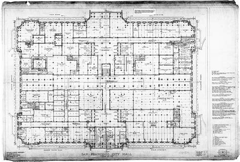 san francisco city hall floor plan ground floor plan san francisco city hall drawing no 7
