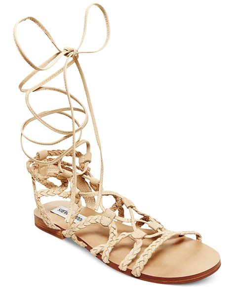 ankle lace up sandals steve madden s swyvel lace up ankle tie gladiator